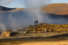 Gisement de geyser d'EL Tatio - Chili - Amérique du Sud Photos libres de droits