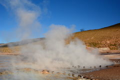 Gisement de geyser d'EL Tatio Région d'Antofagasta chile Photo stock
