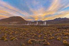 Gisement de geyser d'EL Tatio, d?sert d'Atacama, Chili photo libre de droits