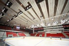 Gisement de glace dans le palais de sports avant allumette Image libre de droits