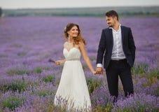 Gisement de lavande de mariage Image stock