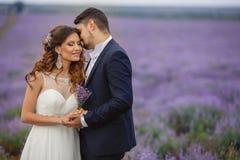 Gisement de lavande de mariage Photographie stock