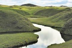 Gisement de lave en travers de fleuve chez Eldhraun Photographie stock libre de droits