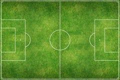 Gisement vert de stade de football Image stock