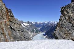 Gisements de glace de Juneau Image libre de droits