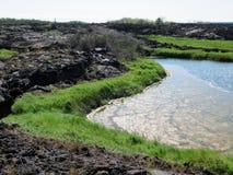 Gisements de lave, Punta Moreno, pagos de ¡ de Galà Images stock