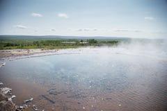 Géiser en Islandia Fotos de archivo libres de regalías