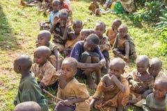 Gishora Drummer in Burundi Kids Viewers. Drummers of the gishora drumming group Stock Image