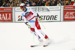 GISIN Marc in FIS alpiner Ski World Cup - der SUPER-G der 3. MÄNNER Lizenzfreies Stockbild