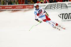 GISIN Marc i FIS alpina Ski World Cup - 3rd MÄNS SUPER-G Royaltyfri Fotografi
