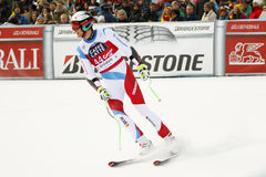 GISIN Marc i FIS alpina Ski World Cup - 3rd MÄNS SUPER-G Royaltyfri Bild