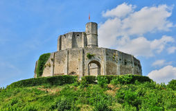 Gisors历史城堡在Normandie 库存图片