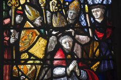 Gisors (Normandy) - Stained glass in gothic church Royalty Free Stock Photos