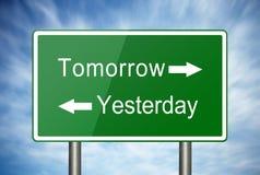 Gisteren en morgen Stock Afbeeldingen