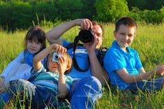 gita di fotographia della famiglia Fotografie Stock Libere da Diritti