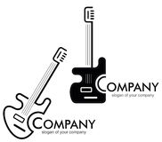 Gitaar - embleem, logotype. Royalty-vrije Stock Afbeeldingen
