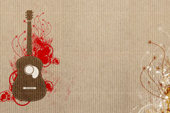 Gitaar en de achtergrond van de Muziek stock illustratie