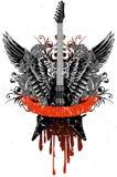Gitaar met vleugels Royalty-vrije Stock Afbeeldingen