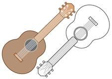 Gitaar, muzikaal instrument Kleurend boek, vectorillustratie royalty-vrije illustratie