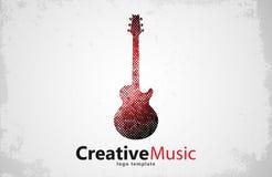 GITAARembleem creatief Muziek Ontwerp Stock Fotografie