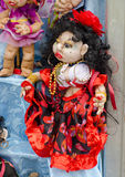 Gitano de la muñeca de Wooman en la feria Imagen de archivo libre de regalías