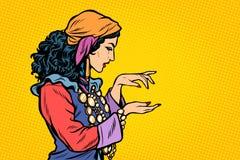 Gitano del adivino de la mujer libre illustration