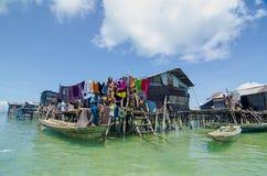 Gitano del mar conocido como laut del bajau Foto de archivo