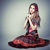 gitano hermoso de la muchacha Imagen de archivo libre de regalías