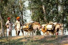 Gitanos en Jaisalmer, la India Foto de archivo libre de regalías
