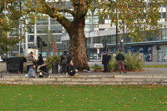 Gitans roumains dans la voûte de marbre Londres Photos stock