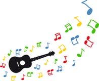 gitar latające notatki Zdjęcie Stock