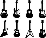 gitar sylwetki royalty ilustracja