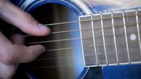 gitara akustyczna jego gry swobodny ruch zdjęcie wideo