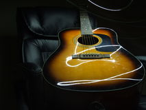 Gitara Akustyczna Lekki obraz Fotografia Stock