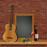Gitara akustyczna na półce z royalty ilustracja