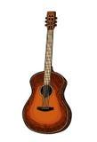 gitara akustyczna Rocznika rytownictwa wektorowa czarna ilustracja ilustracji