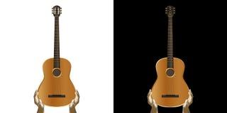 Gitara akustyczna w ręce royalty ilustracja