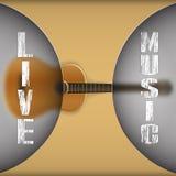Gitara akustyczna z zamazanym tłem royalty ilustracja