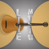 Gitara akustyczna z zamazanym tłem ilustracja wektor