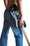 gitara cajgi fotografia royalty free