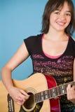 gitara dziewczyny Obraz Stock