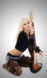 gitara dziewczyny Fotografia Stock
