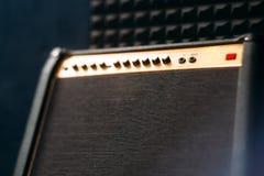 Gitara elektryczna amplifikatoru closep Fotografia Royalty Free