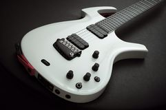 gitara elektryczna biel Obraz Royalty Free