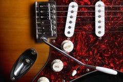 Gitara elektryczna odgórny widok Obrazy Stock
