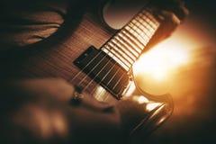 Gitara Elektryczna występ Obraz Stock