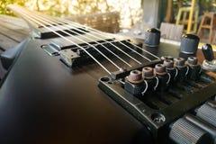 gitara elektryczna z bliska Tylna gitara elektryczna Obrazy Royalty Free