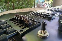gitara elektryczna z bliska Tylna gitara elektryczna Obraz Royalty Free