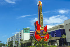Gitara emblemat hard rock kasyno Fotografia Royalty Free