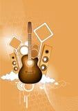 gitara głośniki Royalty Ilustracja